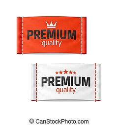 prêmio, qualidade, etiqueta