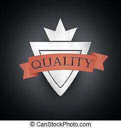 prêmio, vindima, etiqueta, denominado, qualidade, prata