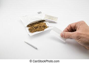 prêt, cigarette, faire, autre