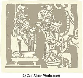 prêtre, maya, vision