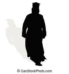 prêtre, silhouette