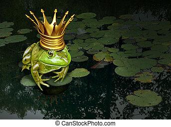 príncipe de rana, concepto