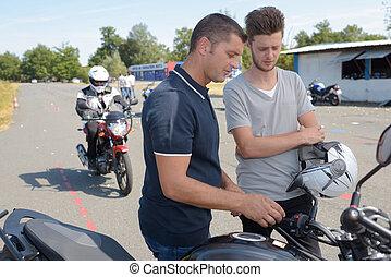 pr�fung, motorrad