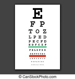 pr�fung, vision, optisch, tabelle, vektor
