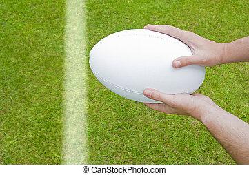 próba, gracz, karb, rugby, nurkowanie