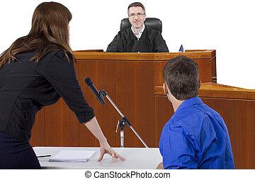 próba, pokój sędziów