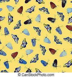 próbka, żółty, butterfly.