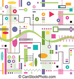 próbka, abstrakcyjny, barwny