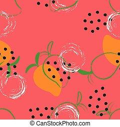 próbka, abstrakcyjny, mangowiec