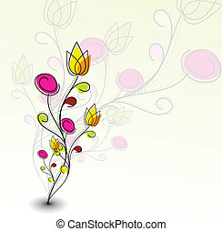próbka, barwny, abstrakcyjny, kwiat, wiosna