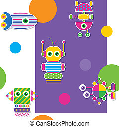 próbka, barwny, roboty, zbiór