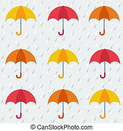 próbka, barwny, seamless, parasole