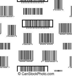 próbka, biały, czarnoskóry, seamless, barcodes
