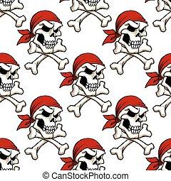 próbka, crossbones, seamless, czaszka, pirat