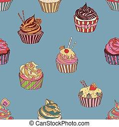 próbka, cupcake