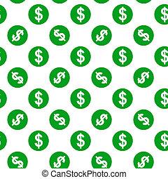 próbka, dolar, seamless, znak, tło, biały