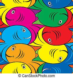 próbka, fish, mozaikowy
