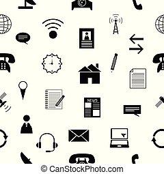 próbka, icon., kontakt, seamless, tło