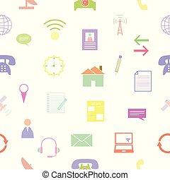 próbka, icon., seamless, tło, kontakt