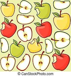 próbka, jabłko, seamless