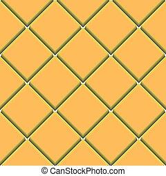 próbka, kwadraty, seamless, żółty