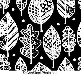 próbka, liść, projektować, jesień, seamless, twój