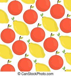 próbka, mangowiec, świeży, pomarańcze, owoce