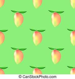 próbka, mangowiec, seamless, owoc