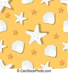 próbka, marynarka, seamless, rozgwiazda, powłoki