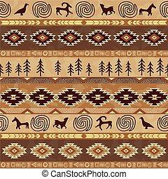 próbka, materiał, abstrakcyjny, ornament., geometryczny, etniczny, seamless, aztek, ozdoba