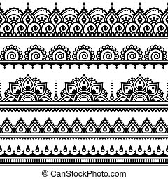 próbka, mehndi, indianin, capstrzyk, henna