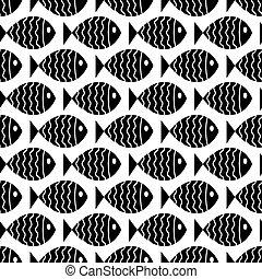 próbka, morski, seamless, fish.
