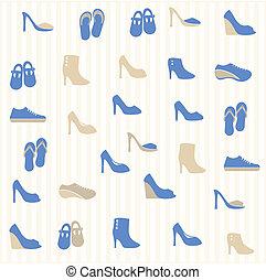 próbka, obuwie, seamless