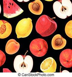 próbka, owoc, seamless
