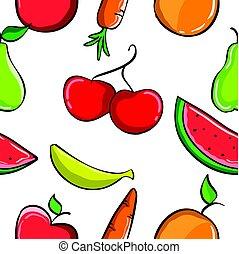 próbka, owoc, zbiór, świeży