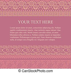 próbka, plemienny, text., seamless, abstrakcyjny, wektor, miejsce, tło, etniczny, twój