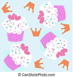próbka, seamless, cupcake