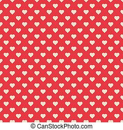 próbka, seamless, czerwony, serca