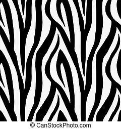próbka, seamless, druk, zebra, zwierzę, dachówka