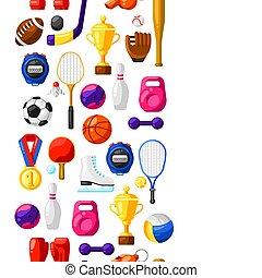 próbka, seamless, icons., sport