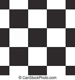 próbka, seamless, kwadraty, czarnoskóry, biały, mozaika