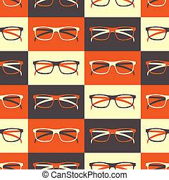 próbka, seamless, okulary