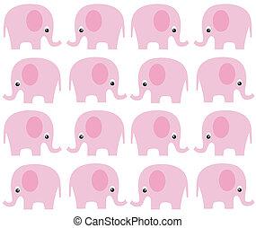 próbka, seamless, słoń