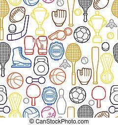 próbka, seamless, sport, icons.