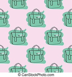 próbka, seamless, torba, ręka, pociągnięty, różowy