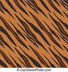 próbka, seamless, tygrys odcisk, zwierzę, dachówka