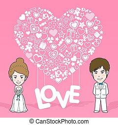 próbka, seamless, valentine