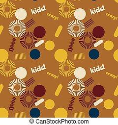 próbka, twórczy, graficzny, spirala, dzieciaki