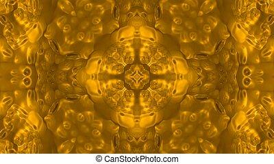 próbka, tworzywo, kwiat, złoty