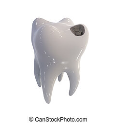 próchnica, ludzki, ząb